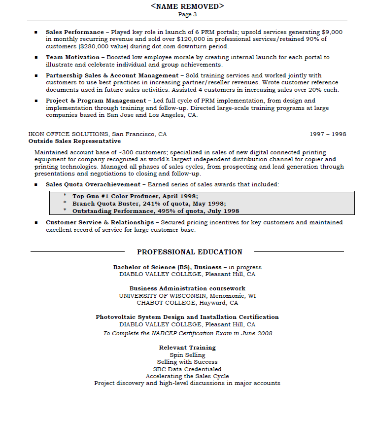 Results Oriented Resume - Page 3
